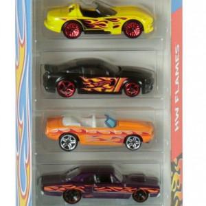 Set Mattel 5 Masinute Hot Wheels Cars - Flames