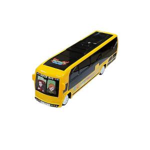 Autobuz cu sunete si efecte luminoase 3D,galben,25 cm