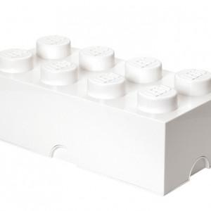 Cutie depozitare LEGO 2x4 alb