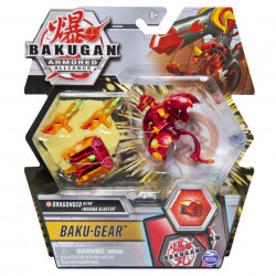 Figurina Bakugan Armored Alliance - Ultra Dragonoid, cu Baku-Gear Magma Blaster