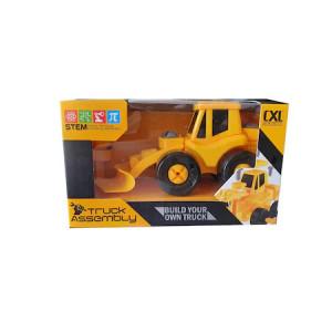 Mini Camion Constructie Demontabil cu Surubelnita ,Galben cu Negru