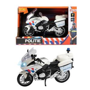Motocicleta de Politie Toi-Toys cu Fructiune,lumini si sunete,20 cm
