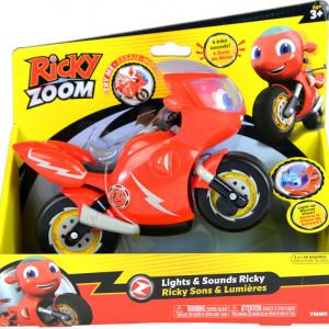 Motocicleta tomy,Ricky Zoom cu lumini si sunete,rosie