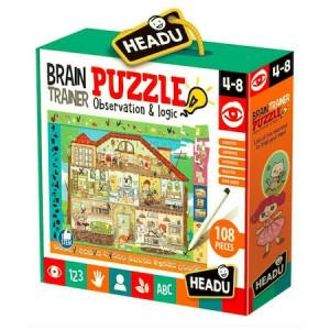 Puzzle Headu S.T.E.M. - Antrenarea mintii, 108 piese