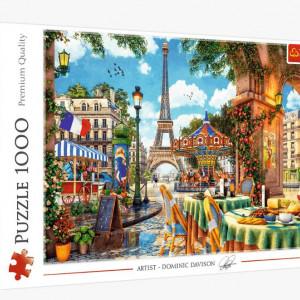 Puzzle Trefl 1000piese - Dimineata la Paris