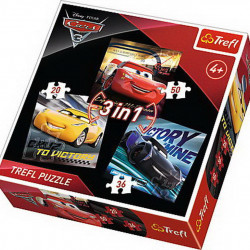 Puzzle Trefl 3 in 1, Legende Cars3