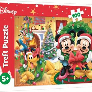 Puzzle Trefl Disney Mickey Mouse - Magia Craciunului, 100 piese