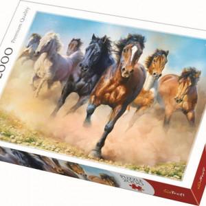 Puzzle Trefl, Herghelie de cai galopand, 2000 piese