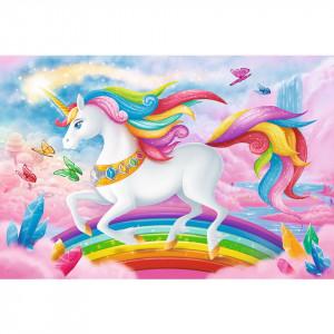 Puzzle Trefl, Lumea de cristal a unicornilor, 100 piese