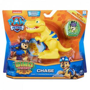 Set 2 figurine Paw Patrol Dino Rescue, Chase si Tyrannosaurus Rex