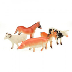Set 5 figurine animale domestice, Toi - Toys, +3 ani