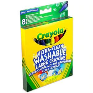 Set 8 Creioane Crayola,15 cm,lavabile,cerate