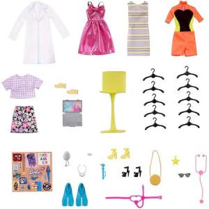 Set de joaca Barbie Garderoba de vis cu papusa inclusa si accesorii