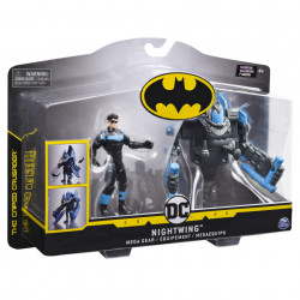 Set de joaca Batman,The caped crusader - Mega gear, Nightwing, cu accesorii, 10 cm