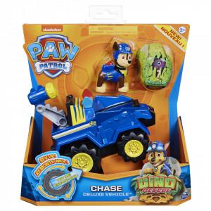 Set Figurina cu Vehicul,Paw Patrol,Chase,Dino Rescue