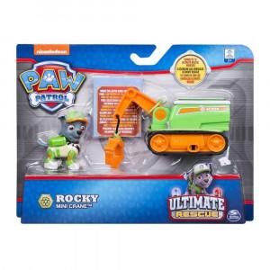 Set figurina cu vehicul Paw Patrol - Ultimate Rescue Rocky