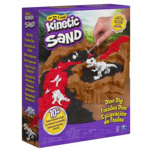 Set Kinetic Sand - Situl arheologic cu dinozauri, 454g