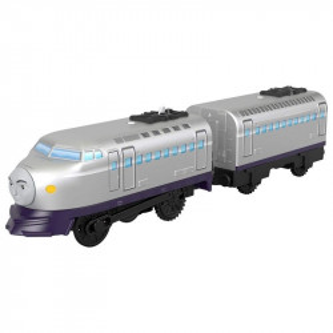 Trenulet Kenji Locomotiva Motorizata cu Vagon Thomas&Friends Track Master