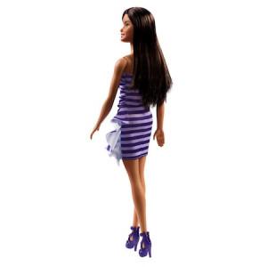 Papusa Barbie - Barbie satena, cu rochita mov