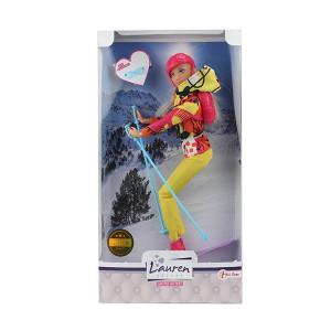 Papusa Toi-Toys cu Skiuri si Accesorii Lauren Teenage, 30 cm