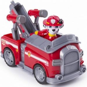 Paw Patrol: Marshall şi maşină de pompieri care poate fi transformat