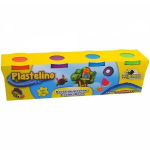 Plastelino-Rezerve 4 culori- Neon