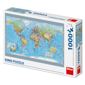 Puzzle 1000 piese -harta politica al umii