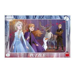 Puzzle Dino pe Placa Frozen 2- 15 piese