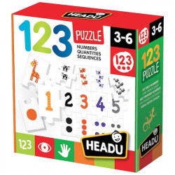 Puzzle Headu Teacher Tested - 123, 27 piese