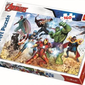 Puzzle Trefl 160piese Avengers - Pregatit pentru Salvarea Lumii