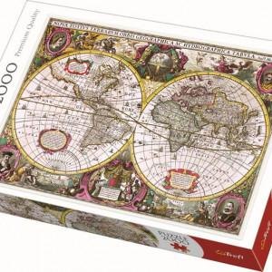 Puzzle Trefl, Harta noua a mapamondului, 2000 piese