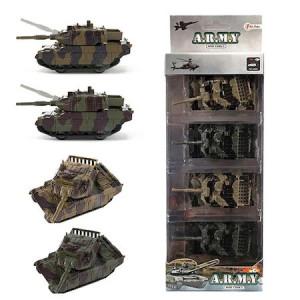 Set 4 mini tancuri de armata, Toi-Toys