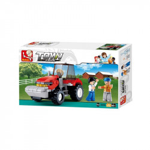 Set de constructie Sluban Town Farm Tractor