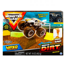 Set de joaca Hot Wheels Monster Jam cu nisip kinetic - Dirt Deluxe