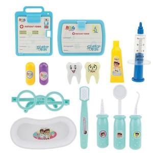 Set Trusa medic stomatolog, Toi-Toys, albastru, 14 piese