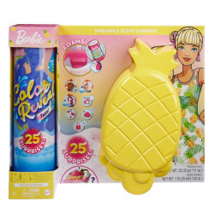 Barbie Color Reveal Foam - Papusa cu Tematica Ananas