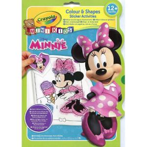 Carte Crayola de Colorat cu Abtibilduri Minnie Mouse