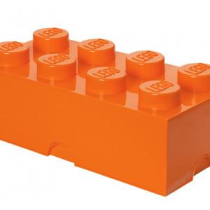 Cutie depozitare LEGO 2x4 portocaliu