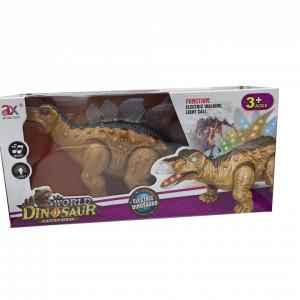 Dinozaur Stegosaurus cu Lumini si Sunete,37 cm