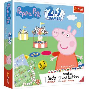 Joc Trefl 2 in 1 - Peppa Pig, Ludo si Serpisori si Scari