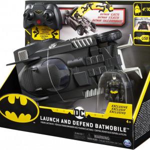 Masinuta RC Spin Master - Batmobil, cu figurina 10 cm