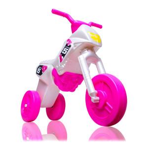 Motocicleta fara Pedale pentru Copii,Alb/Roz