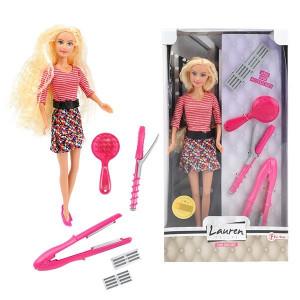 Papusa Toi-Toys cu Accesorii Coafor - Lauren Teenage