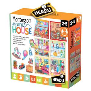 Puzzle Headu Montessori - Casuta mea, 30 piese, 6 camere