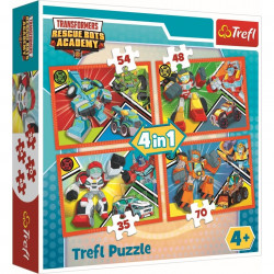 Puzzle Trefl 4 in 1, Academia Transformers, 207 piese