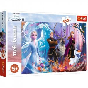 Puzzle Trefl, Disney Frozen II, Lumea magica, 100 piese