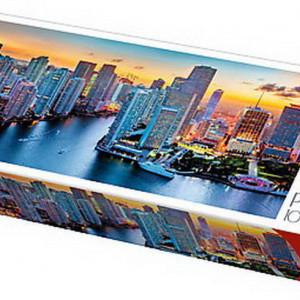 Puzzle Trefl, Panorama Miami la apus, 1000 piese