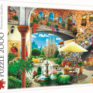 Puzzle Trefl, Vedere din Barcelona, 2000 piese