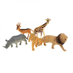 Set 5 figurine animale salbatice, Toi - Toys, +3 ani