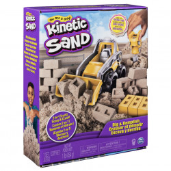 Set Kinetic Sand - Excaveaza si demoleaza, 454g